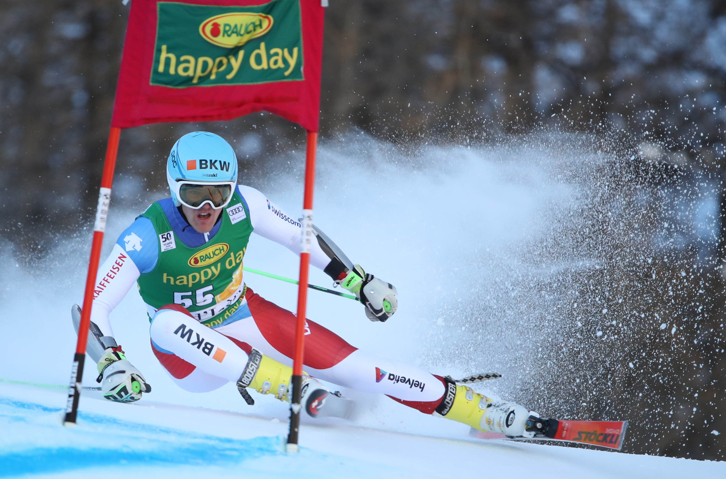 VAL D ISERE,FRANCE,04.DEC.16 - ALPINE SKIING - FIS World Cup Val D Isere, giant slalom, men. Image shows Stefan Rogentin (SUI). Keywords: Stoeckli. Photo: GEPA pictures/ Andreas Pranter