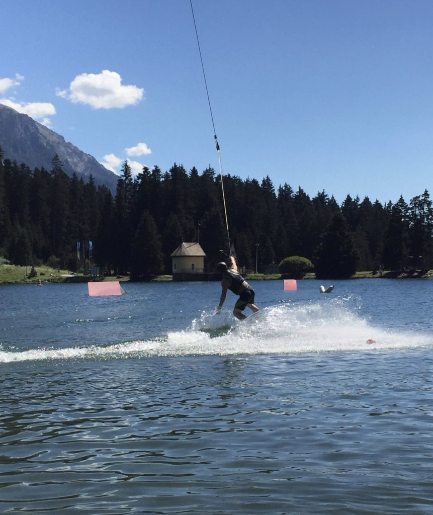 Wake-boarding in Lenzerheide
